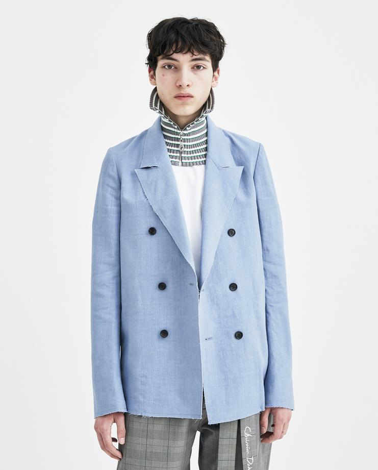 Christian Dada Alpaca Linen Jacket ss18 spring summer 2018 CDM-18S-0102 chris dada blue