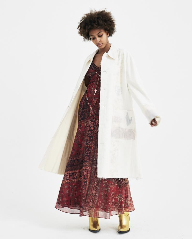 Hyein Seo Layered Lab Coat ss18 spring summer 2018 white layered long jacket heyin korean designer