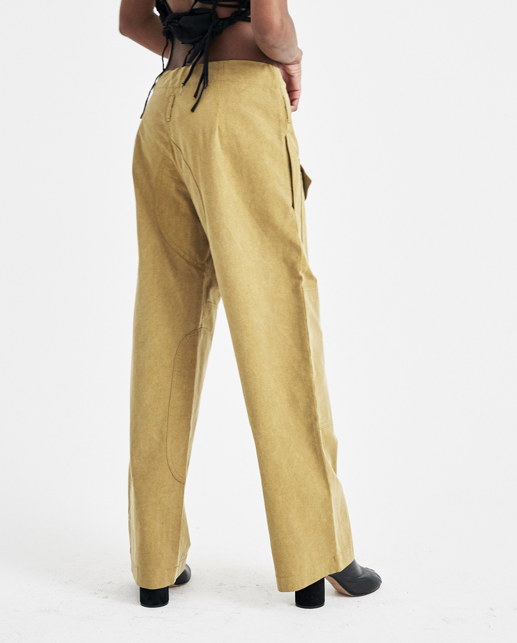 Hyein Seo Khaki Work Trousers with Keyring PT1KH new arrivals womens pants SHOWstudio Machine A S/S 18 spring summer collection