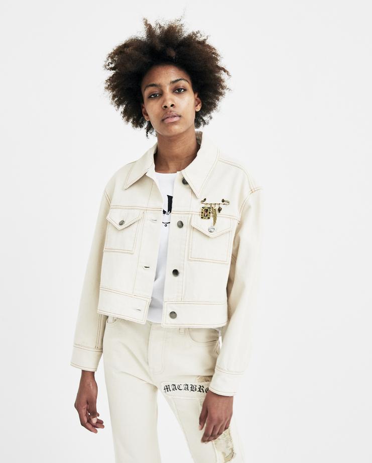 Hyein Seo Off White Trucker Jacker JK1W new arrivals womens white denim jacket jeans jackets S/S 18 spring summer collection Machine A SHOWstudio