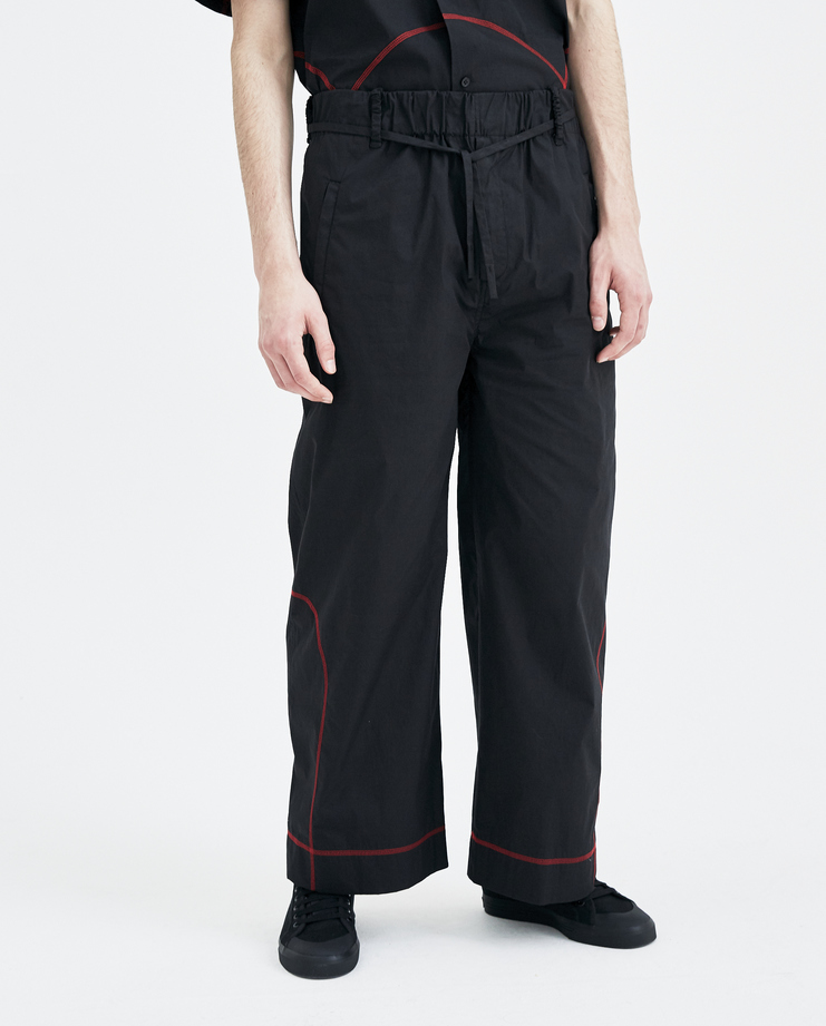 Craig Green Black Elasticated Track Pants SS1803 new arrivals mens trousers S/S 18 spring summer collection Machine A SHOWstudio