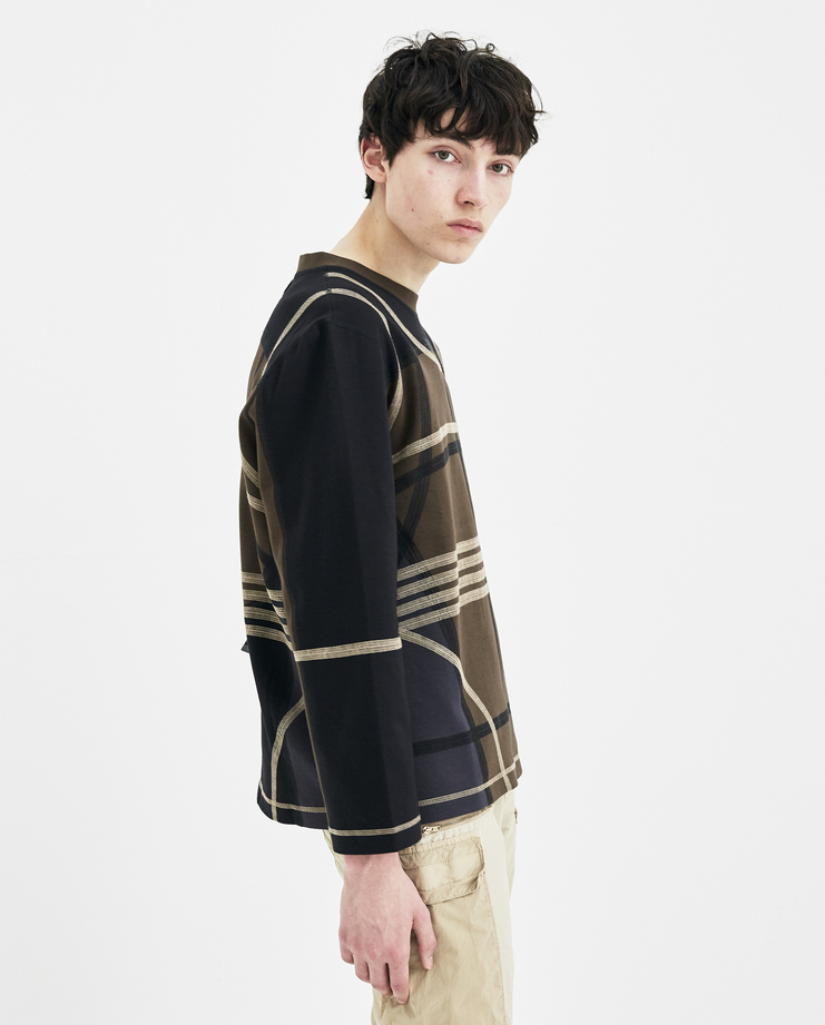 Craig Green Black and Khaki Panelled Sweatshirt SS1802 JERSEY new arrivals S/S 18 spring summer collection Machine A SHOWstudio mens sweater