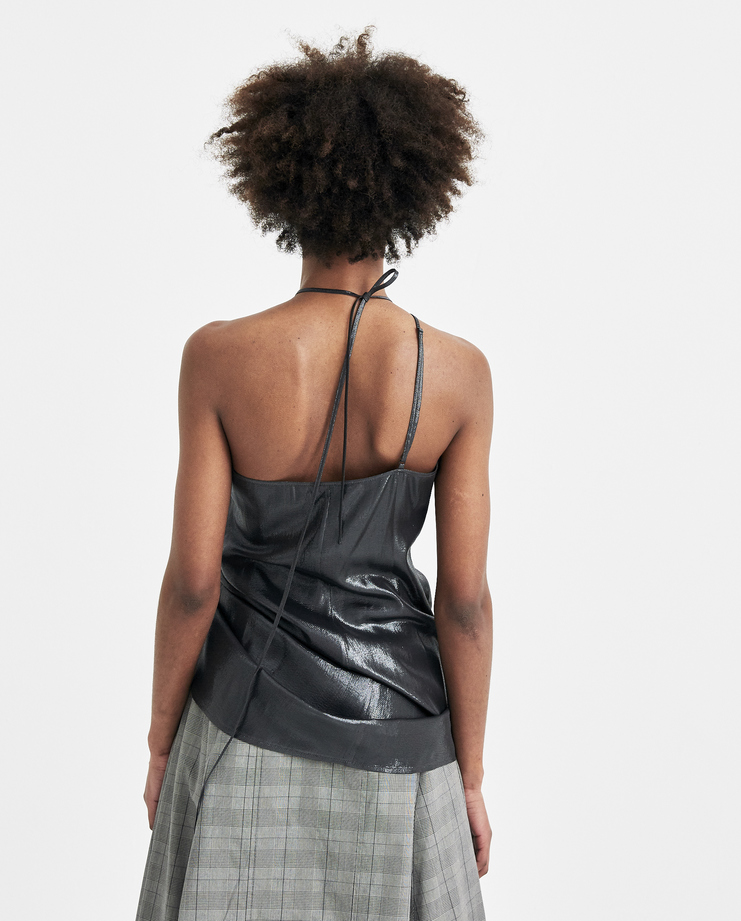 Helmut Lang by Shayne Oliver Grey Pulled Tank Top I01CW506 new arrivals S/S 18 collection spring summer Machine A SHOWstudio womens tops
