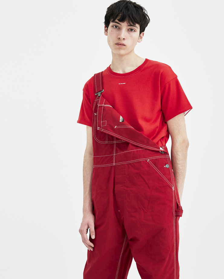 Napapijri x Martine Rose Red Overalls N0YHVC new arrivals SHOWstudio Machine A S/S 18 spring summer collection overalls dungarees mens