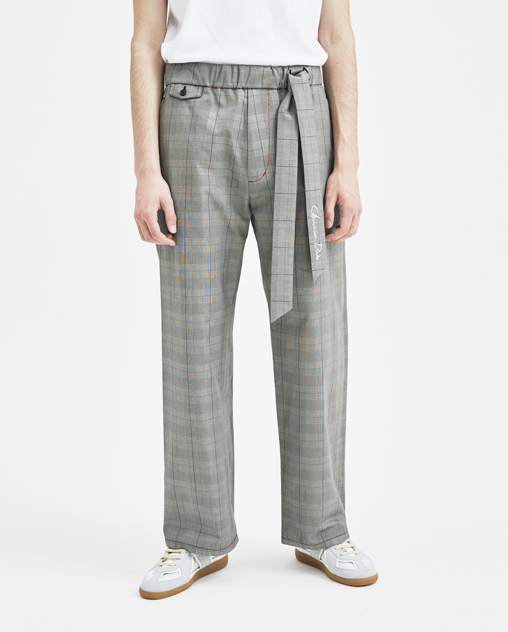 Christian Dada Grey Checked Baker Trousers CDM-18S-0609A new arrivals mens trousers plaid Machine A SHOWstudio S/S 18 spring summer collection