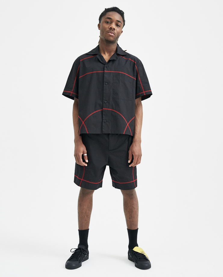 Craig Green Black Short Sleeve Holiday Shirt SS801 WORKWEAR S/S 18 spring summer collection Machine A SHOWstudio mens shirts