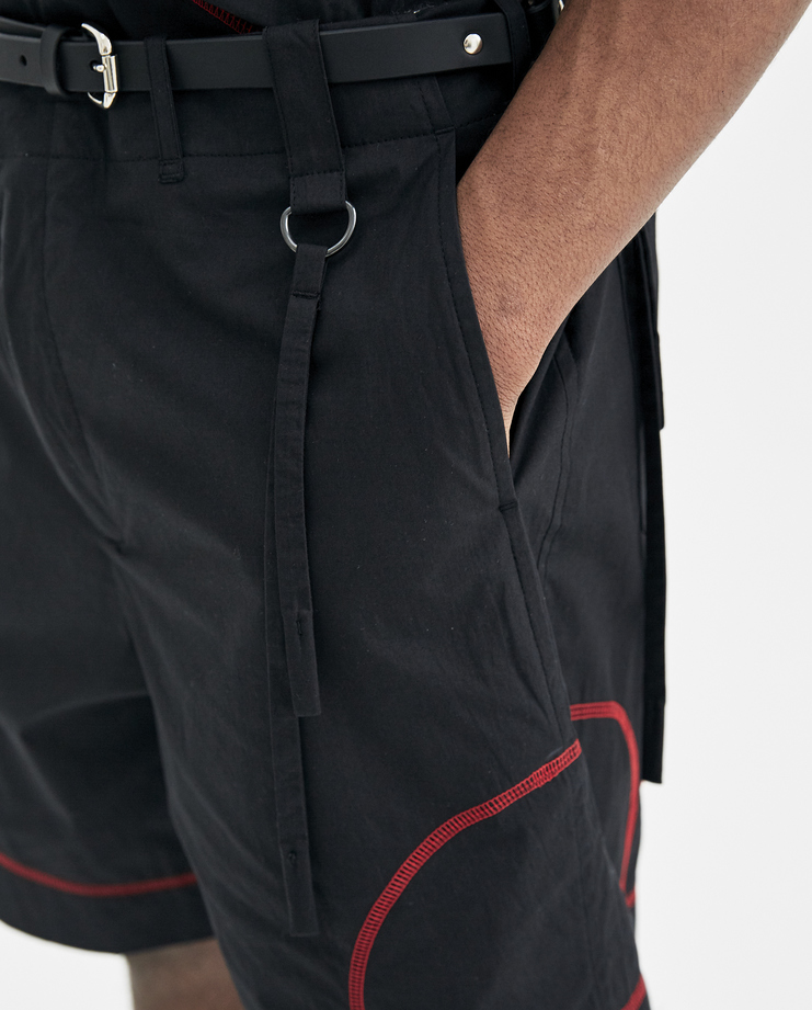 Craig Green Black Uniform Shorts SS8014WORKWEAR new arrivals S/S 18 spring summer collection Machine A SHOWstudio mens short