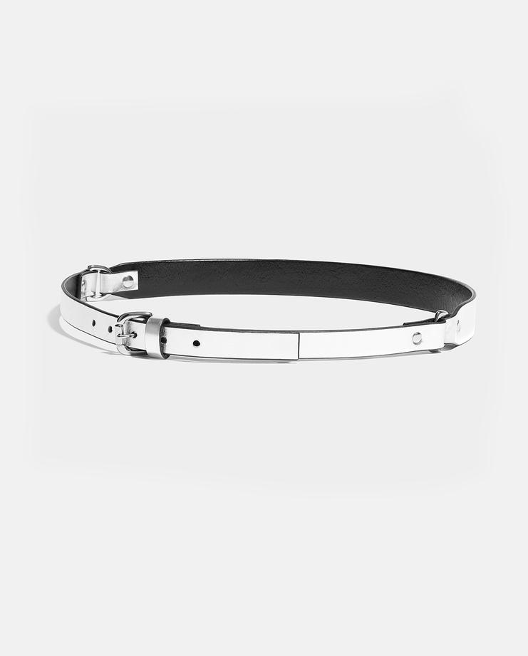 Fleet Ilya Silver Double D-Ring Belt new arrivals womens machine a showstudio SS18/BLT/DDRNG spring summer 2018 s/s 18