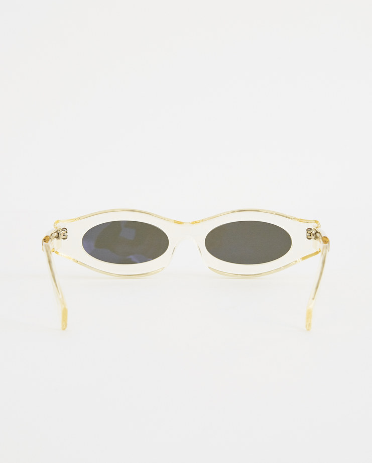 KUBORAUM Y5 Silver Flat Skinny Sunglasses Y5 CHP new arrivals cat eye sunglasses Machine A Machine-A SHOWstudio mask kuboram koboraum