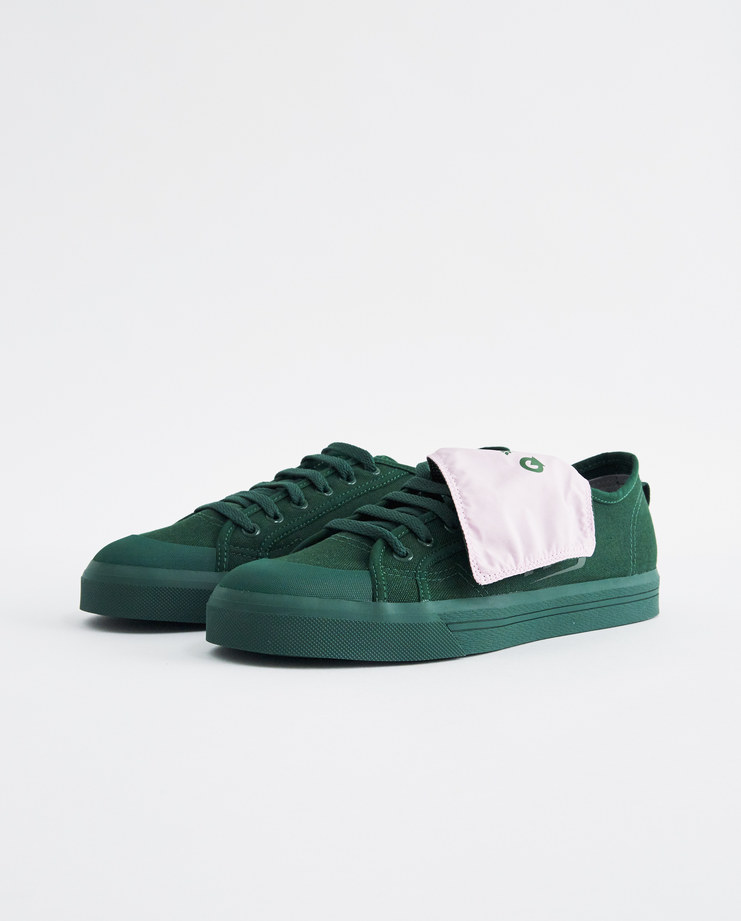 adidas x Raf Simons Green and Pink RS Spirit Low Assym Tongue trainers sneakers B22534 new arrivals SHOWstudio Machine A shoes collaboration sportswear womens S/S 18 spring summer collection
