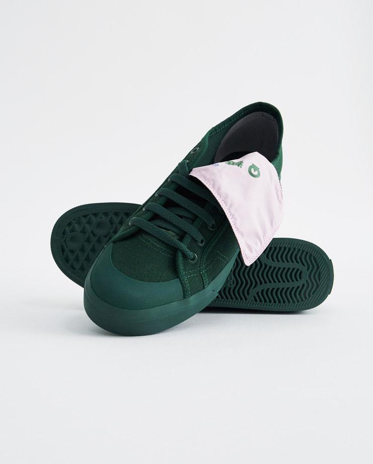 Adidas x raf simons, verde e rosa rs spirito basso assym formatori