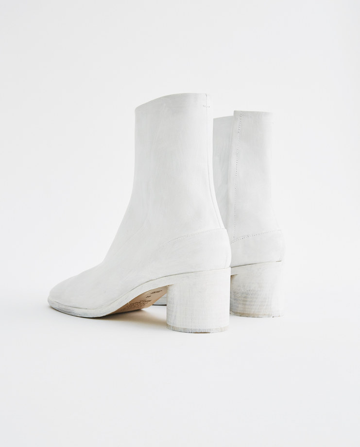 Maison Margiela Tabi White Ankle Boot S37WU0310 new arrivals tabi boots SHOWstudio Machine A S/S 18 spring summer collection