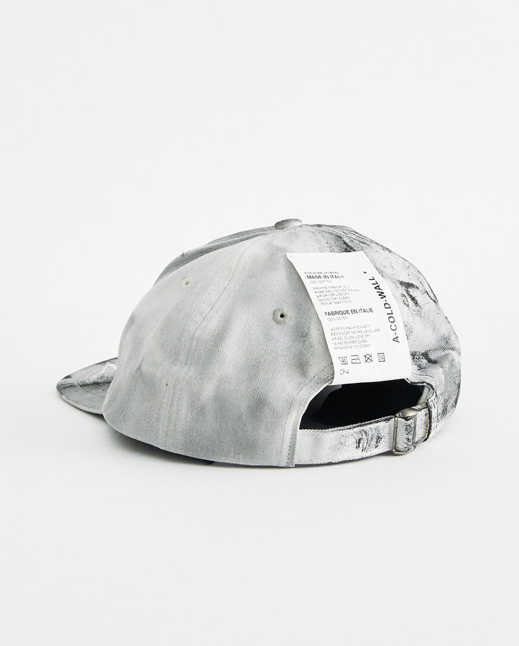 A-COLD-WALL* Grey Dip Dyed Cap CP4 new arrivals S/S 18 spring summer collection accessories hats caps Machine A Machine-A SHOWstudio