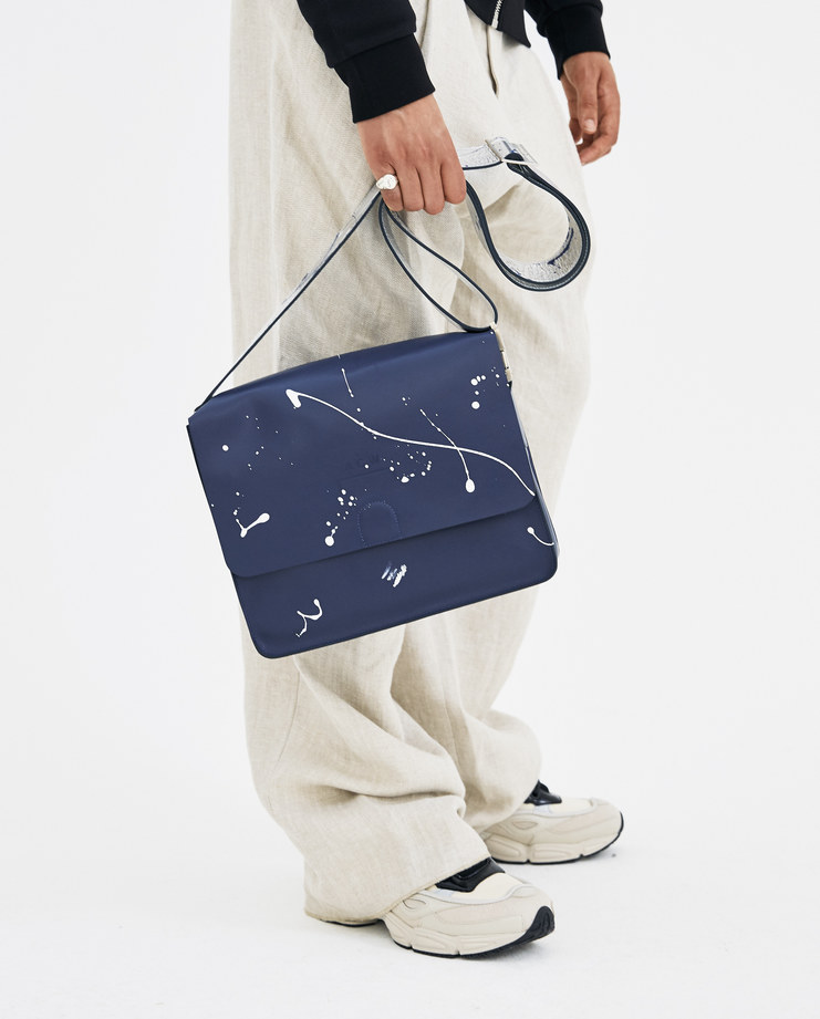 A-COLD-WALL* Navy Leather Utility Satchel LS1 new arrivals bags accessories S/S18 spring summer collection showstudio machine-a machine a