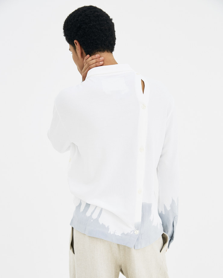 A-COLD-WALL* White Recut Polo Long Sleeve P1 new arrivals men's tops S/S 18 Spring Summer Collection showstudio machine a machine-a