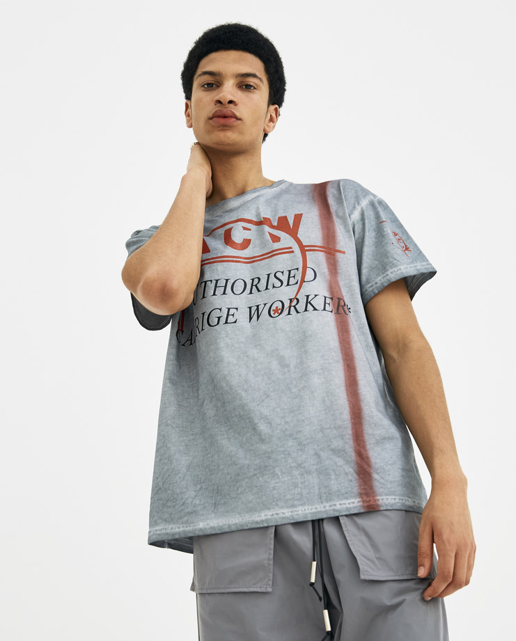 A-COLD-WALL* Slat Autho Carriage Worker T-Shirt SS2 new arrivals men's tops S/S 18 spring summer collection showstudio machine a machine-a