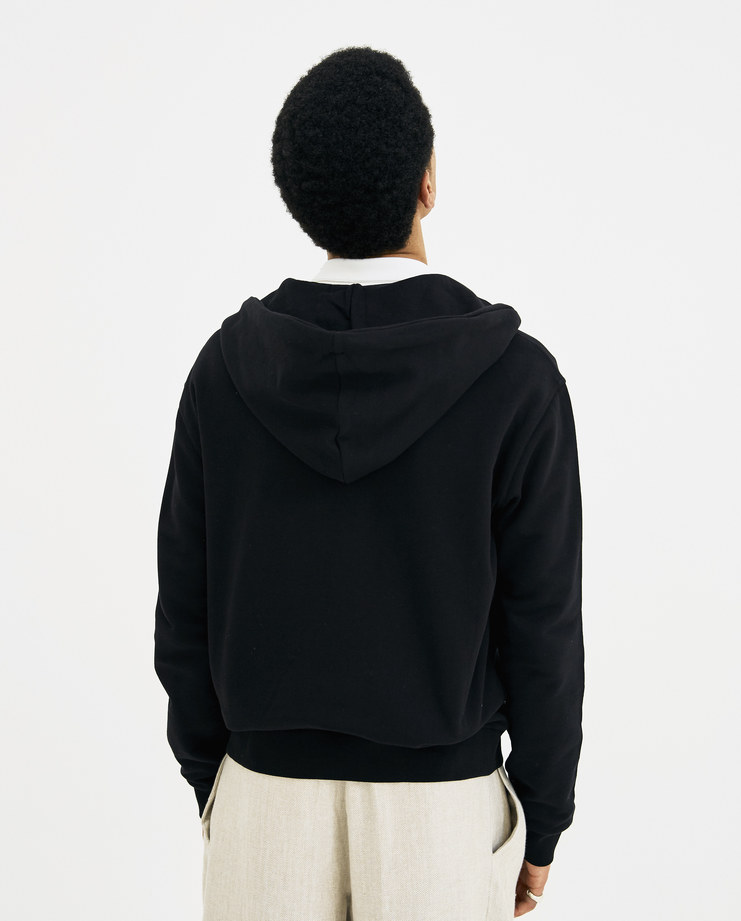 Maison Margiela Black Sweatshirt with Hood S50GU0055 new arrivals mens hoodies SHOWstudio Machine A S/S 18 spring summer collection