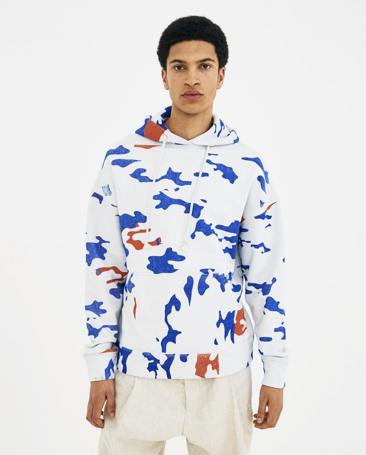 424 White Camo Hoodie jumper army print 424C-SS18-0055 SS18 spring summer 2018 ss18 Machine A machine-a SHOWstudio mens sportswear hoodies