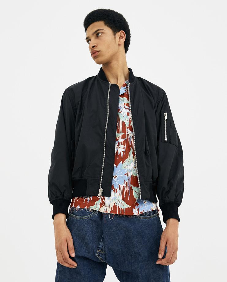 424 Black Reversible Paisley Bomber black printed zip mens fashion jacket spring summer 2018 s/s 18 Machine A SHOWstuido 424C-SS18-0005