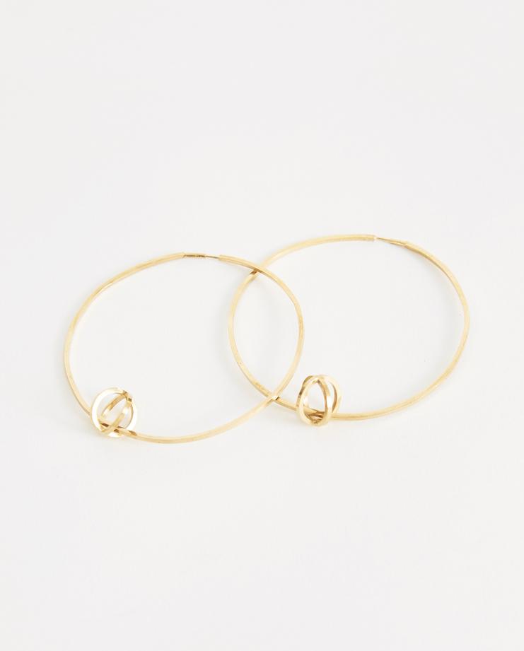iLiLiP Gold Medium Hoop Earrings New arrivals Machine A Showstudio  Spring summer 2018 S/S 18 hoops accessories sterling silver