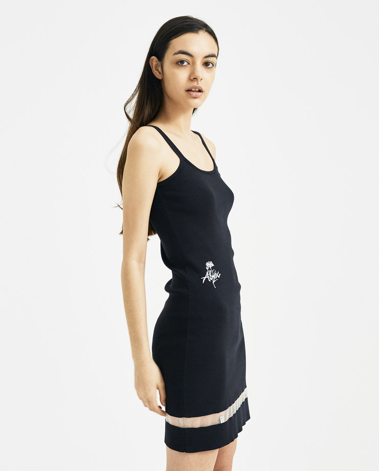 ALYX Black Knitted Logo Tank Dress AAWDR0009A01 new arrivals womens alyx Machine A Machine-A SHOWstudio dresses S/S 18 spring summer collection