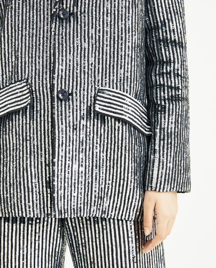 Ashish Disco Pinstriped Tailored Jacket  J005 new arrivals S/S 18 spring summer collection Machine A Machine-A SHOWstudio womens