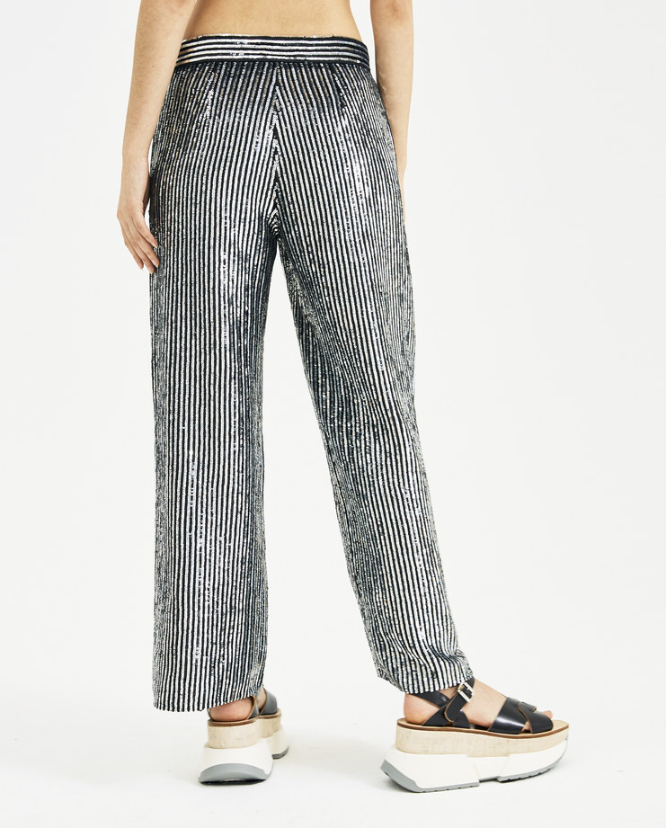 ASHISH Disco Pinstriped Tailored Trousers P005 new arrivals S/S 18 spring summer collection Machine A Machine-A SHOWstudio womens
