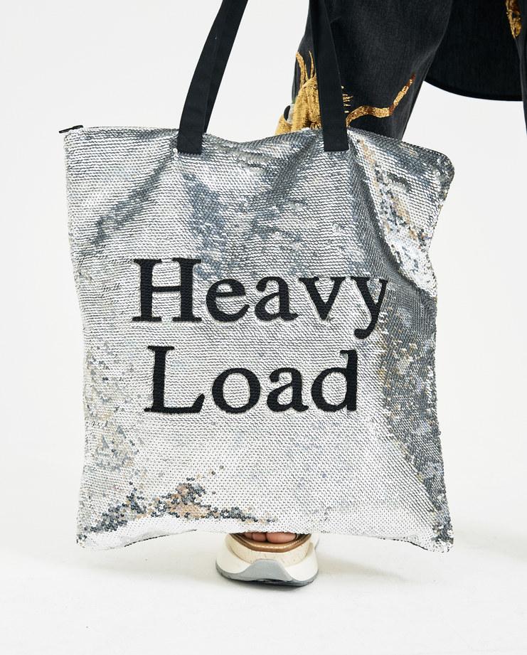 Ashish Sequin 'Heavy Load Bag' silver mirror new arrivals B002 Machine A SHOWstudio Handgbag shopper bag tote bag spring summer 2018 ss18