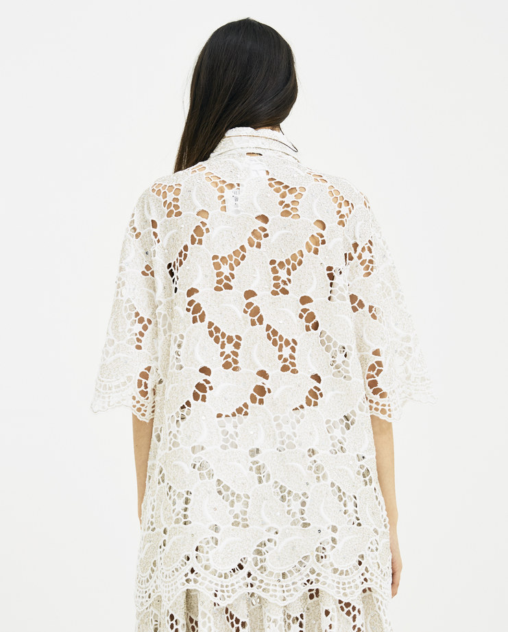 Ashish Lace Leaf Shirt Embroidery T038 new arrivals Machine A SHOWstudio spring summer 2018 S/S 18 top embellishment