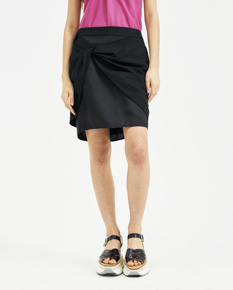 Helmut Lang Black Sarong Skirt New arrivals Womens fashion I01CW302 SHOWstudio Machine A spring summer 2018 S/S 18