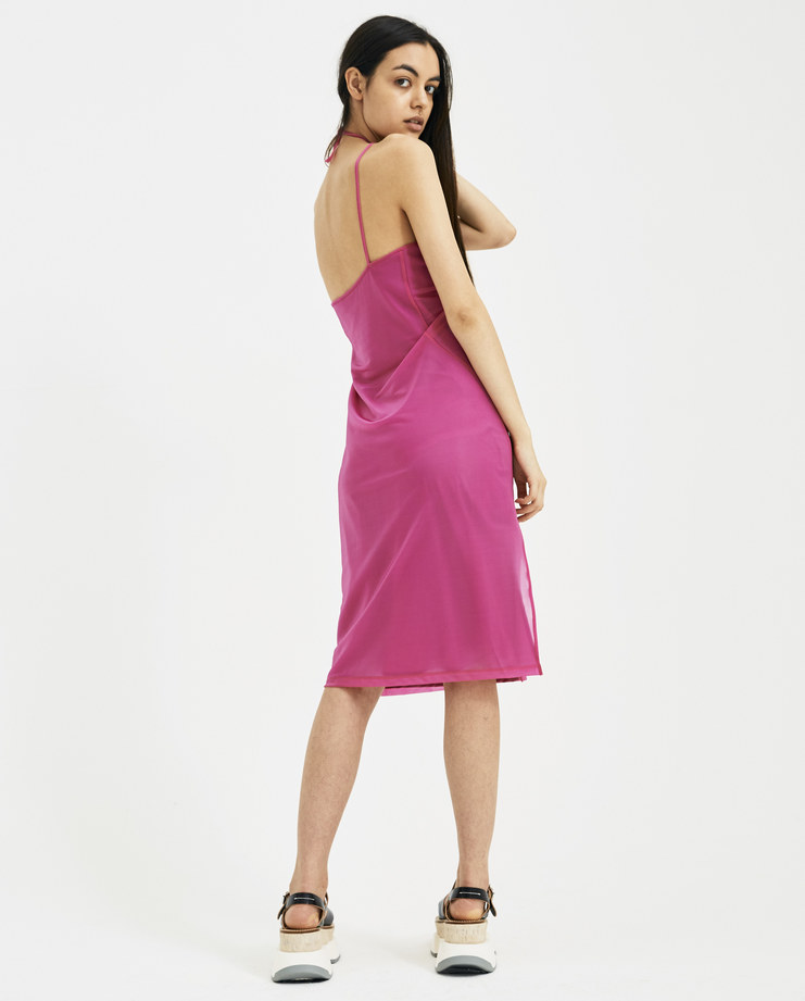 Helmut Lang x Shayne Oliver Fuschia Pulled Slip Dress I01CW603 New arrivals SHOWstudio Machine A Pink Womens Spring summer 2018 S/S 18