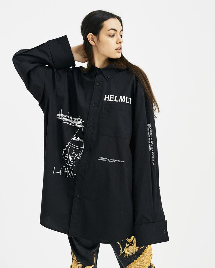 Helmut Lang x Shayne Oliver Black Index Shirt Black and white new arrivals spring summer 2018 s s 18 womens I01UW510