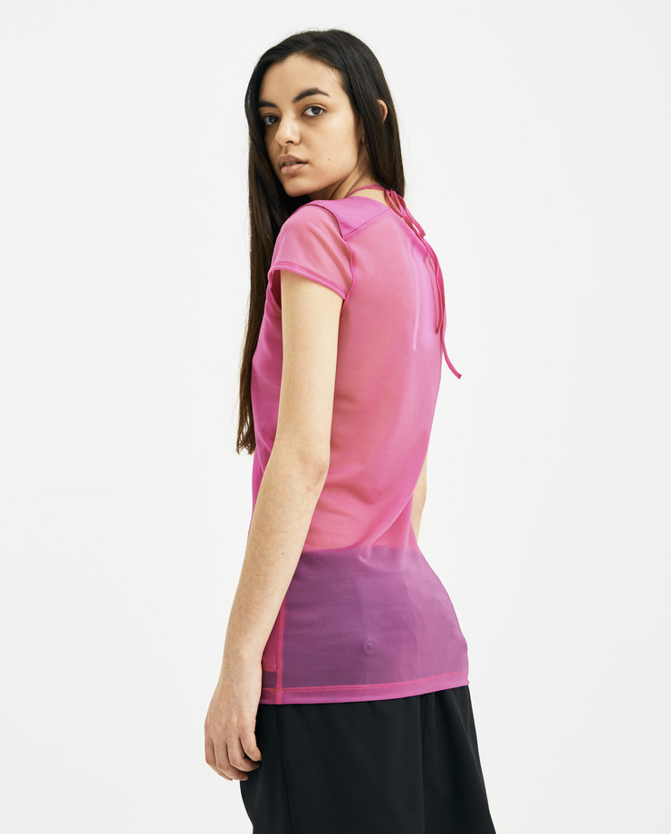 Helmut Lang x Shayne Oliver Fuschia Pulled T-Stretch Org Womens New arrivals Machine A SHOWstudio I01CW509 Spring summer 2018 S/S 18