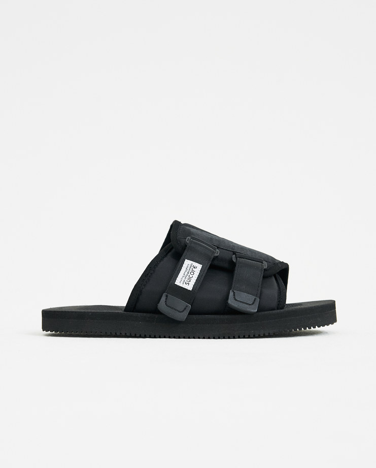 SUICOKE Kaw VS Sandal Slides VIRBAM japan street cult ss18 spring summer thongs flip flops black nylone suede machine a