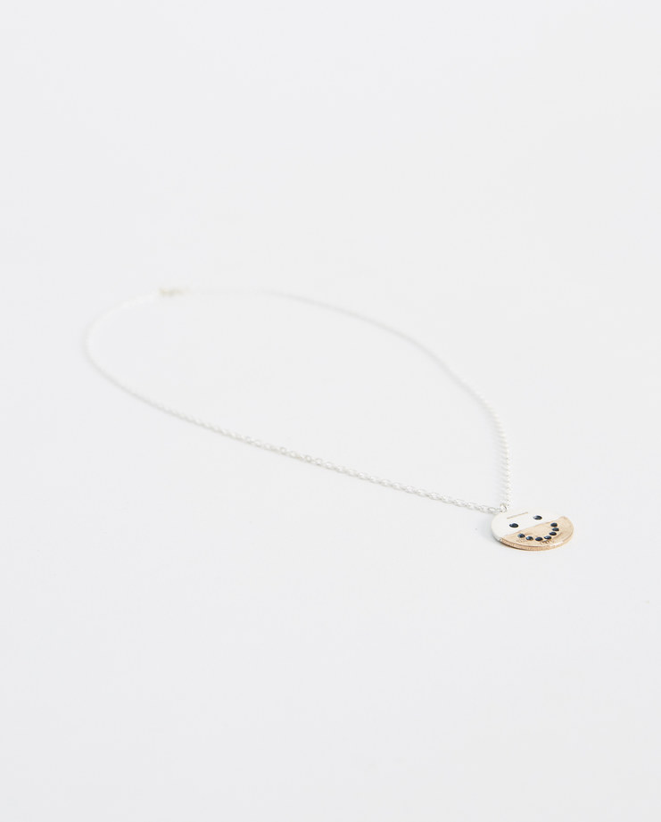 Husam El Odeh Rose Divided Smiley Necklace D2 new arrivals jewellery necklace SS18 spring summer showstudio machine a machine-a