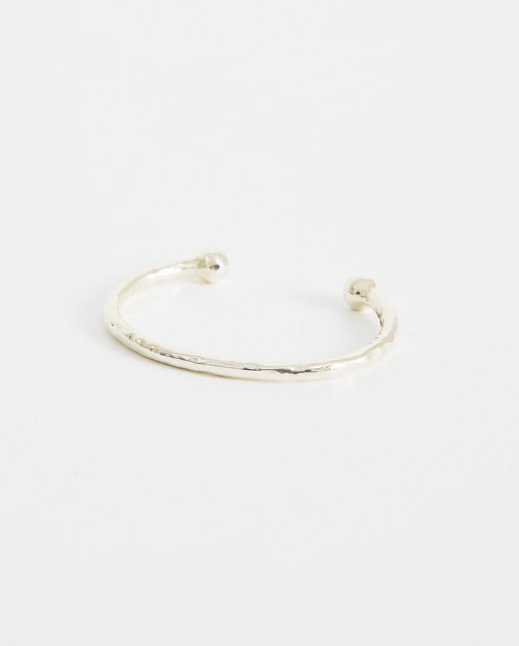 LAUD OBJECTS Silver Cuff Bracelet BR001 New arrivals Machine-A Machine A SHOWstudio accessories barbell bracelet jewellery laud brand collection one