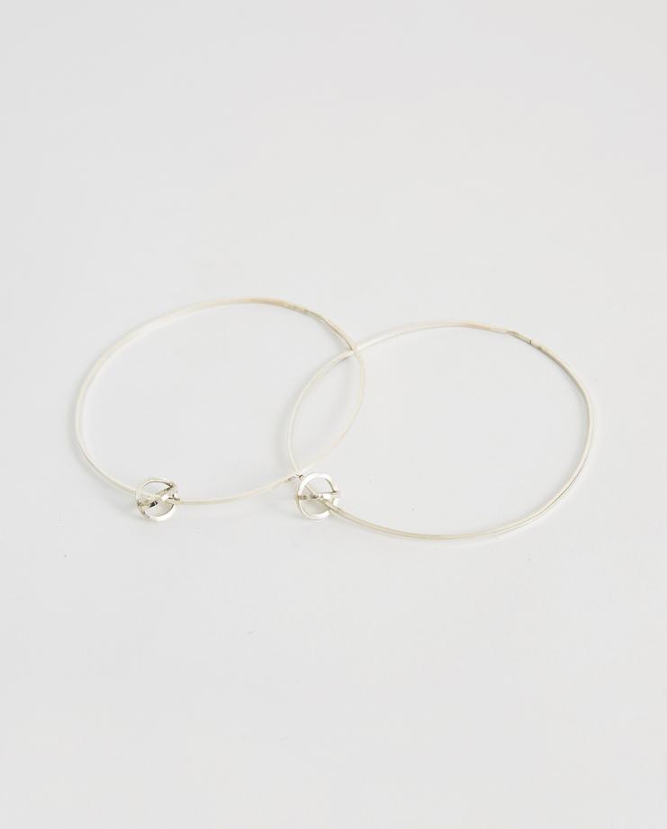 iLiLiP Silver Large Hoop Earrings SLV925 Machine A SHOWstudio spring summer SS18 accessories jewellery big hoops