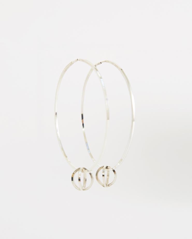 Ililip Silver Medium Hoop Earrings New arrivals Machine A Showstudio SLV925 Spring summer 2018 S/S 18 hoops accessories sterling