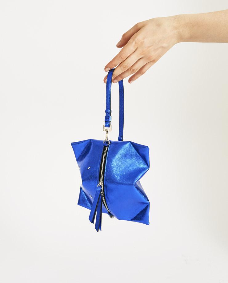 Maison Margiela Metallic Blue Pouch S56UI0098 accessories SS18 spring summer collection womens wallet Machine A SHOWstudio
