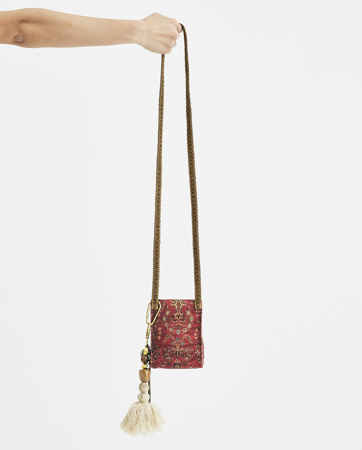 Hyein Seo Red Printed Mini Bag With Keyring BG4R new arrivals Machine A Machine-A SHOWstudio S/S 18 spring summer collection bags mini bags pouch womens
