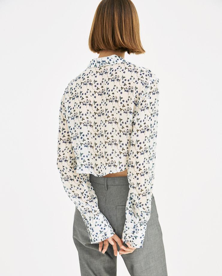 DELADA Strawberry Light Cropped Shirt DWS3SH06 SE womens cropped top shirts SS18 spring summer tops showstudio machine a machine-a
