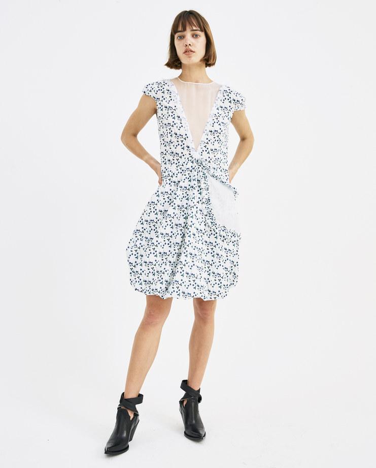 DELADA Strawberry Short Dress with Asymmetrical Pocket DWS3DR02 CO womens fashion dresses SS18 spring summer showstudio machine a machine-a