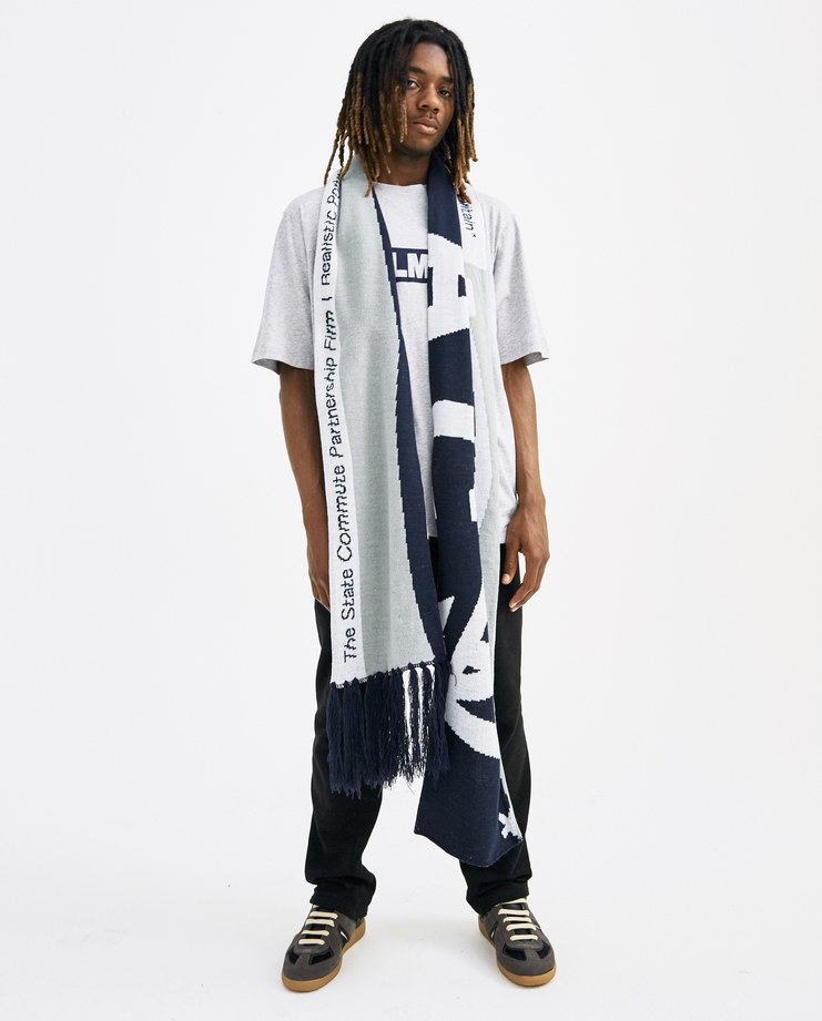 A-COLD-WALL* Grey and Navy Oversized Scarf SC1 new arrivals accessories SS18 spring summer collection showstudio machine-a machine a