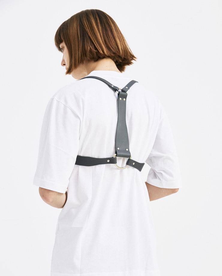 Fleet Ilya Grey D-ring Harness SS18/HRNS/DRNG womens fashion accessories SS18 spring summer machine a machine-a showstudio