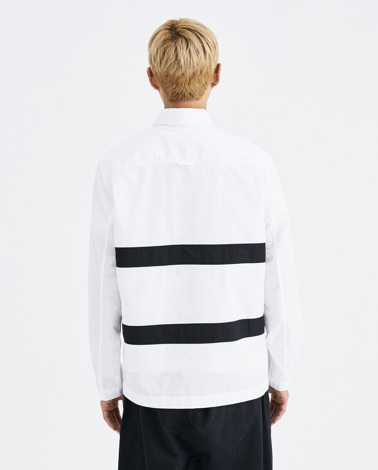CGAW18CWOSH06 Craig Green Black white Fitted Harness Shirt cotton button strap stitch ss18 aw18 core collection lfw machine a jacket light