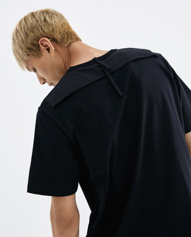 CGAW18CJEHTS02 Craig Green Black String T-Shirt cotton tee tie rope lace core collection machine a ss18 aw18 lfw creig