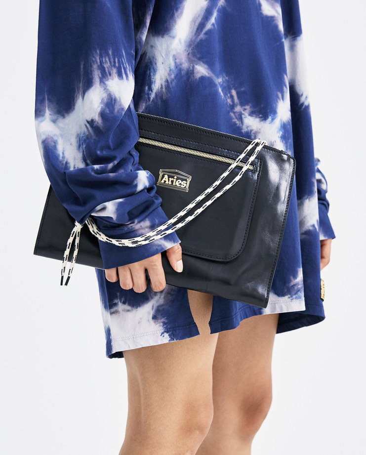 ARIES Black Laptop Wallet Bag SOAR10001 womens accessories laptop wallet bags cow leather SS18 spring summer showstudio machine a