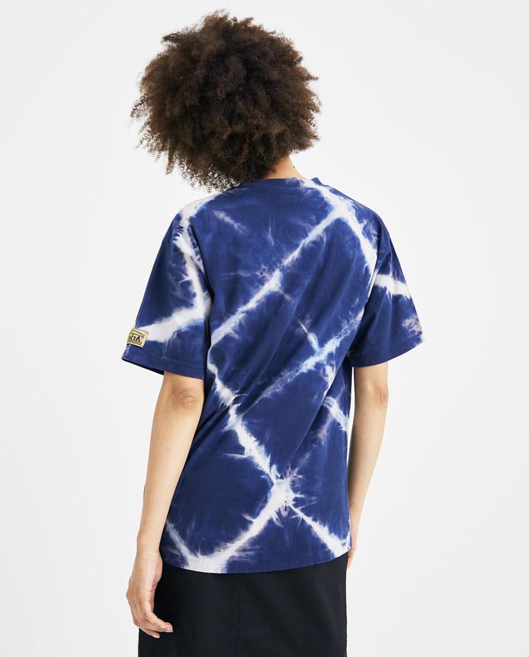 ARIES Navy Bleached Argyle T-Shirt SOAR60210 womens tee bleach basic tshirt crew neck SS18 spring summer showstudio machine a