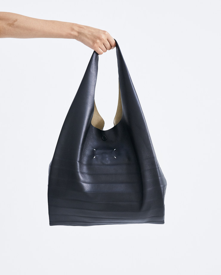 Maison Margiela Shopping Bag S61WC0005 accessories womens leather bags black tote SS18 spring summer showstudio machine a