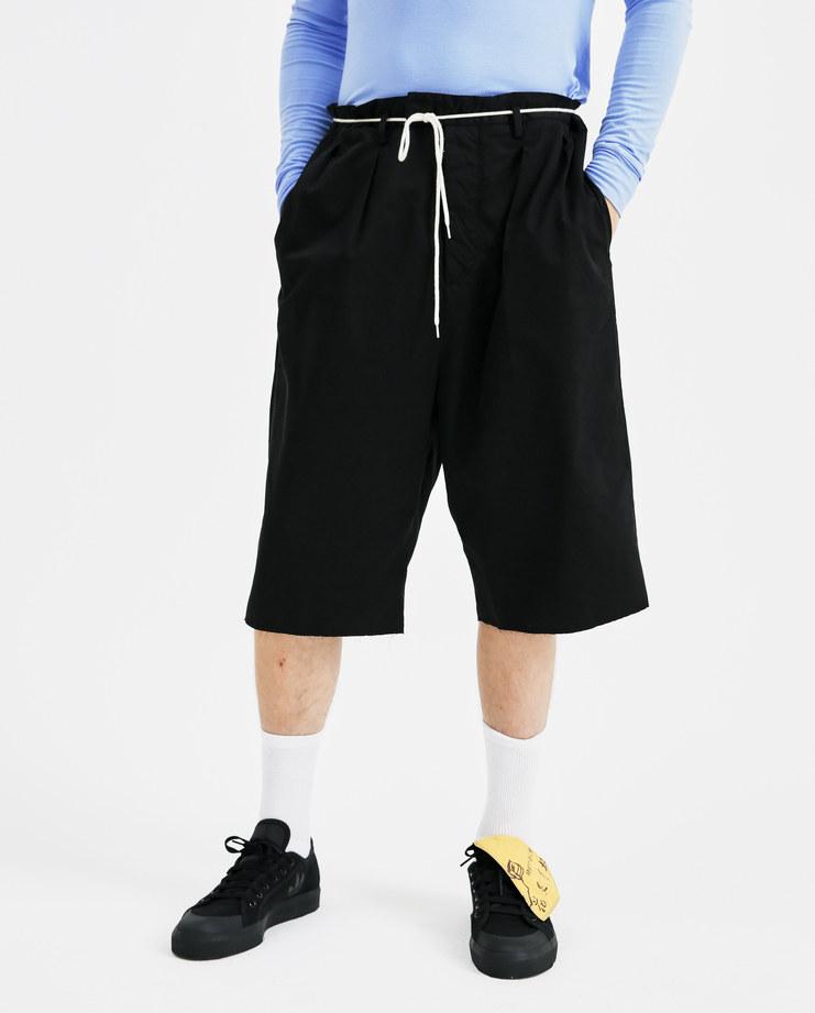 Maison Margiela Black Tailored Raw Edge Shorts S30MU0017 mens trousers pants SS18 spring summer showstudio machine a